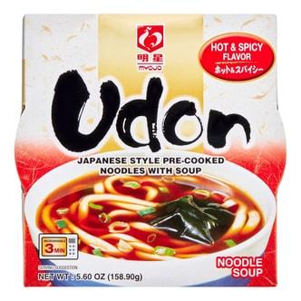 日本MYOJO明星 可微波鲜汤速食乌冬面 香辣味 158.9g