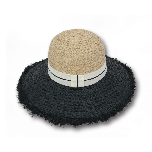 Product Detail - ACCESS HEADWEAR Wide Brim 100% Raffia Summer Bowler Hat women #Beige One Size - image 0