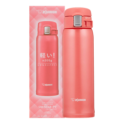 ZOJIRUSHI One Touch Stainless Steel Vacuum Thermal Bottle Coral Pink 480ml SM-SC48PV