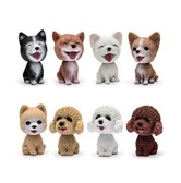 LORDUPHOLD Car Ornament Cute Dog Nodding Shaking Head Dog Decoration Furnishing Articles Car/Household porneranian 1pc