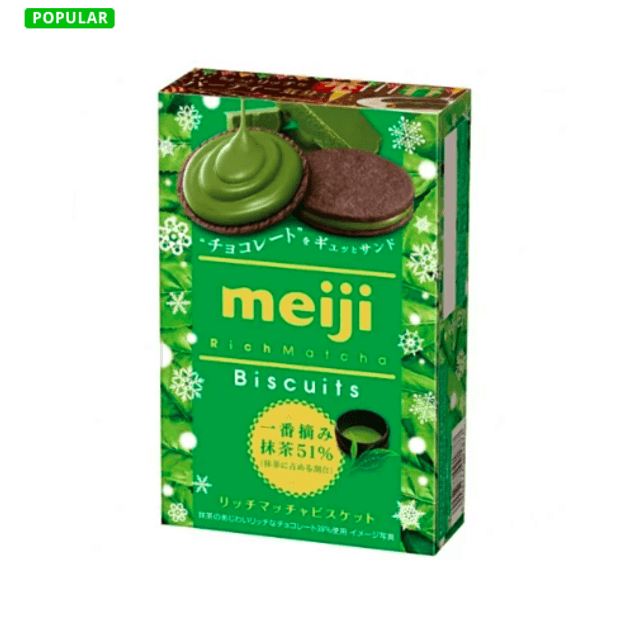 Product Detail - MEIJI Rich Matcha Biscuits 6 Pcs - image 0