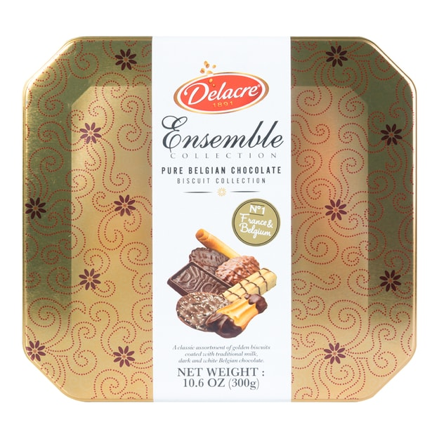 DELACRE Ensemble Pure Belgian Chocolate Biscuit Holiday Selection 300g