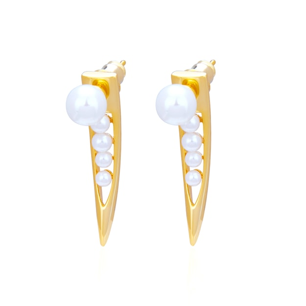 Product Detail - ARSIS spiky stud earrings with pearls 1 pair - image 0