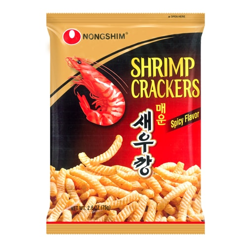 NONGSHIM Shrimp Flavored Crackers Hot and Spicy Flavor 75g