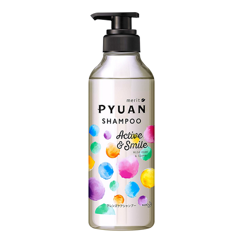 KAO MERIT PYUAN Active & Smile Shampoo 425ml