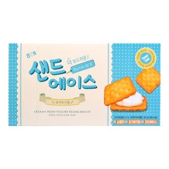 韩国HAITAI海太 SAND ACE 低卡 酸奶夹心奶油饼干 12包入 204g