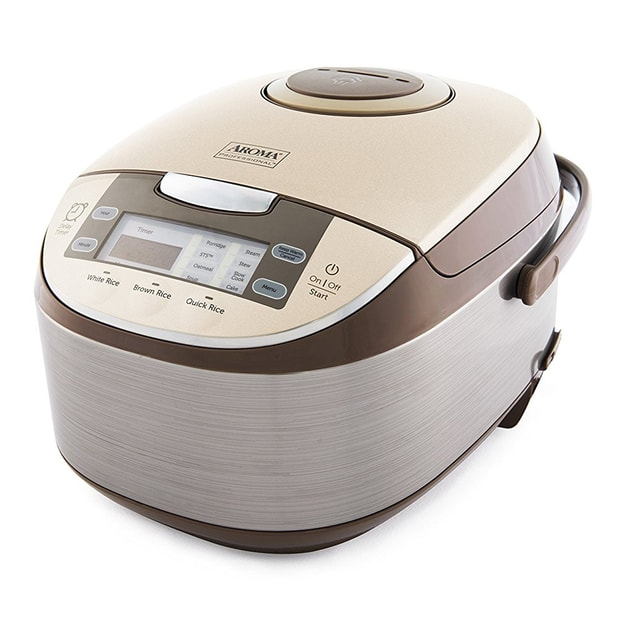 "AROMA Multi-Function Digital Display Rice Cooker 12 Cup ARC-6106 14.5"" x 8.63"" x 8.63"" (5 Year Mfg Warranty)"