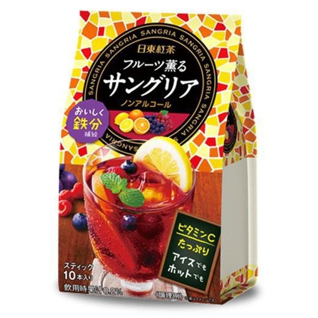 商品详情 - 【日本直邮】NITTO TEA 日东红茶 西班牙桑格利亚混合水果味速溶茶饮料水果茶 10条入 - image  0