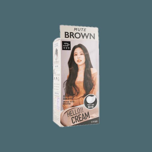 商品详情 - 【2021新色】韩国MISE EN SCENE爱茉莉 美妆仙 HELLO CREAM 染发剂 8MB 多彩棕色 单组入  白发可用 - image  0