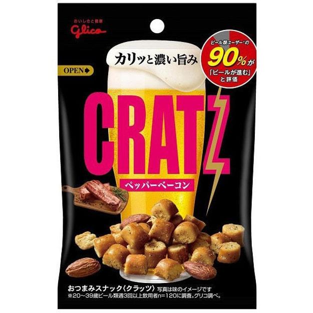 商品详情 - 【日本直邮】GLICO格力高 CRATZ 什锦小零食 黑胡椒培根口味 42g - image  0