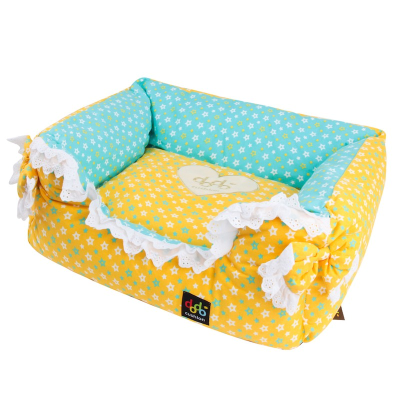 ALPHA DOG SERIES 星星图案丝带蝴蝶结宠物用软垫  #黄色 怎么样 - 亚米网