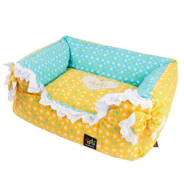 Product Detail - ALPHA DOG SERIES Star & Ribbon Cushion  #Yellow - image 0