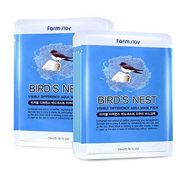 Product Detail - KOREA FARMSTAY Visible Difference Mask Bird\'s Nest  10pc - image  0