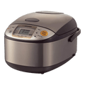 Micom Rice Cooker Warmer with Steaming Basket, 1L, 5.5 Cups, NS-TSC10, 120 Volts