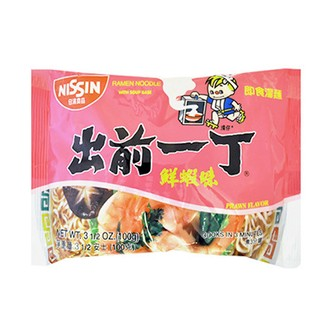 NISSIN Ramen Noodle with Soup Base Prawn Flavor 100g