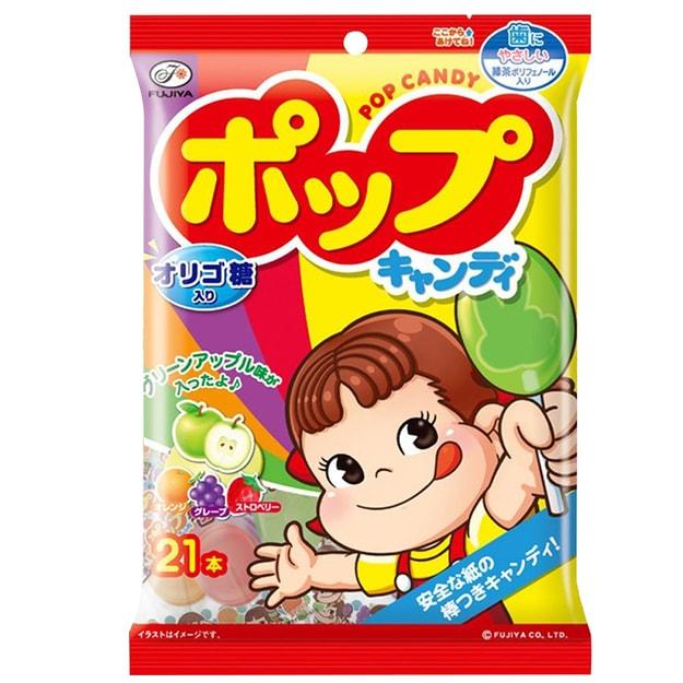 商品详情 - DHL直发【日本直邮】日本FUJIYA不二家 果汁棒棒糖 21支入  122g - image  0
