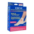 EBENE Bio Ray Foot Massage Socks Short Women's Beige 1pair