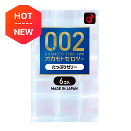 OKAMOTO 0.02 Condoms Jelly double 6pcs