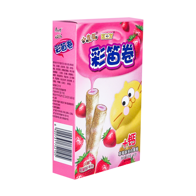 Product Detail - MASTER KONG Color Flute Roll Strawberry Flavor 40g - image 0