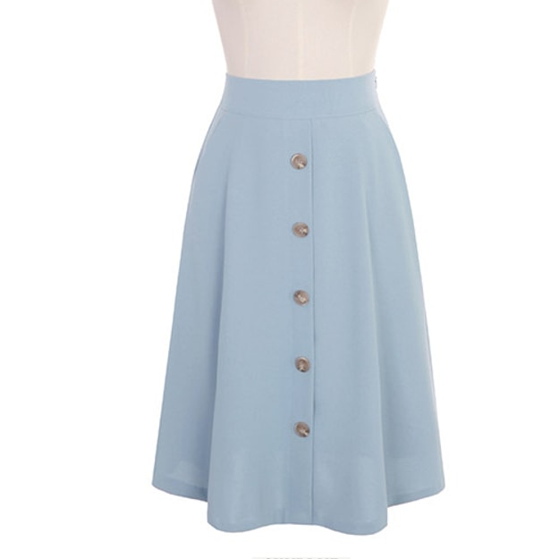Product Detail - ATTRANGS Middle skirt SkyBlue free size - image 0