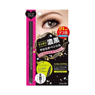 日本ISEHAN KISS ME奇士美 HEAVY ROTATION旋转式防水眼线笔 01浓黑