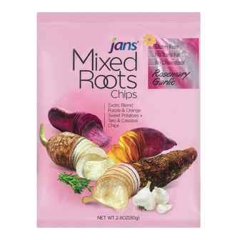 JANS Mixed Roots Chips Rosemary Garlic 80g