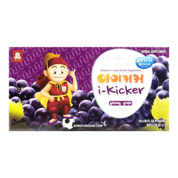 Product Detail - CHEONG KWAN JANG i-Kicker Children\'s Liquid Herbal Supplement -Ginseng & Grape Flavor (For Children Over 4 Years Old) - image 0