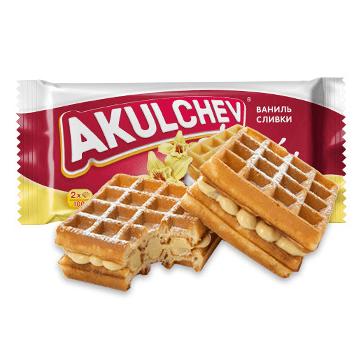 【中国直邮】俄罗斯进口阿古丽切夫香草奶油夹心华夫饼100g 怎么样 - 亚米网
