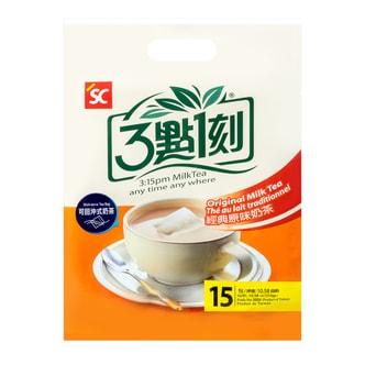 台湾三点一刻 可回冲式经典原味奶茶 15包入 300g