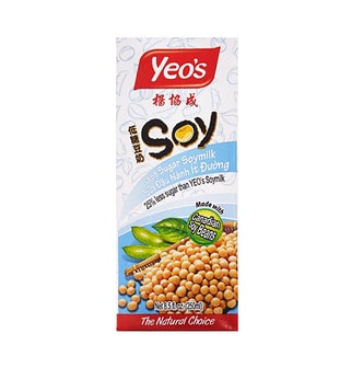 Yeo's Less Sugar Soymilk Made With Canadian Soy Beans 250ml