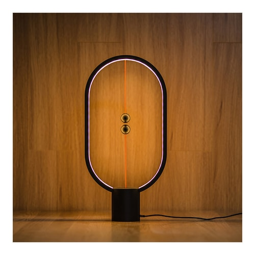 ALLOCACOC Lightweight Magnetic Switch in Mid Air USB Powered LED Heng Balance Lamp #Black Red Dot Award Winner