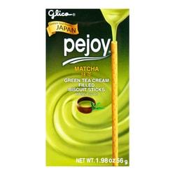 GLICO Pejoy Matcha Filled Biscuit Sticks 56g