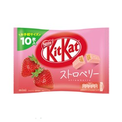 【日本直邮】DHL直邮3-5天到 KIT KAT 2021年春季限定 草莓口味巧克力威化 10枚装