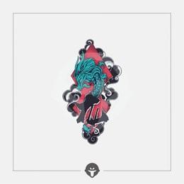 @BECOME Original Tattoo Stickers Qinglong One Piece