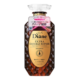 MOIST DIANE Organic Argan Oil and Platinum Keratin Extra Damage Repair Shampoo 450ml