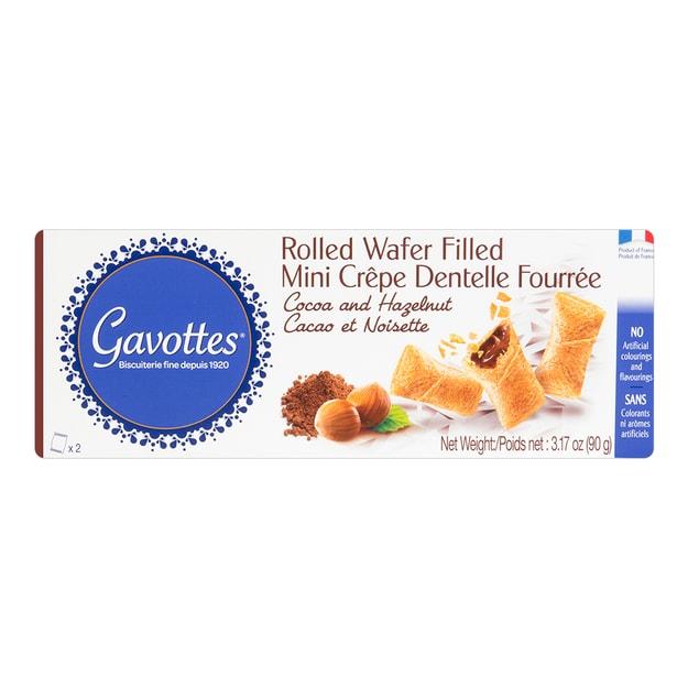 商品详情 - 法国GAVOTTES加伏特 千层脆薄脆饼干 巧克力榛子味 90g - image  0