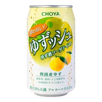 日本CHOYA 日式柚子味碳酸汽水 350ml