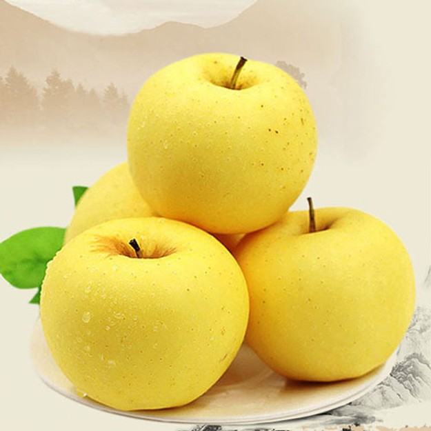 商品详情 - 【黄元帅】新鲜黄苹果 2磅 爆香脆甜 - image  0