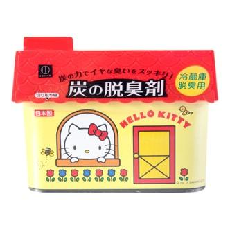 日本KOKUBO小久保 HELLO KITTY凯蒂猫活性炭强力脱臭剂 冷藏库脱臭用 150g