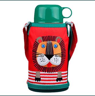 【日本直邮】日本TIGER 虎牌儿童保温杯/直饮双盖 小狮子 # MBR-B06G RL 便携学生水杯(直饮盖+保温盖) 600ml