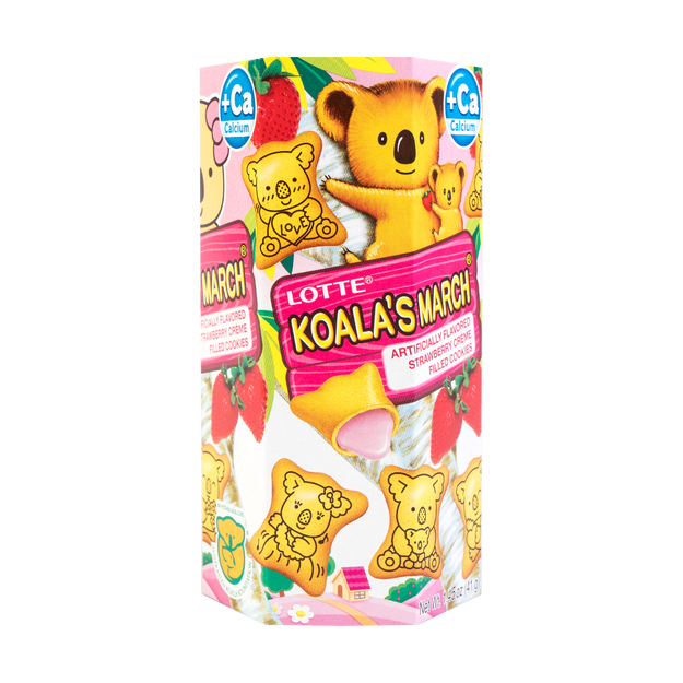 Product Detail - LOTTE Koala Strawberry Cream Filling Biscuit 41g - image 0