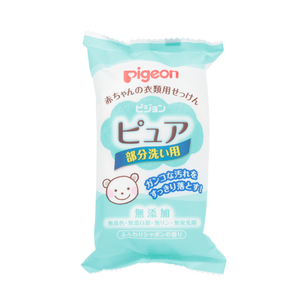 Product Detail - PIGEON baby clothes cleaning soap 120g - image 0