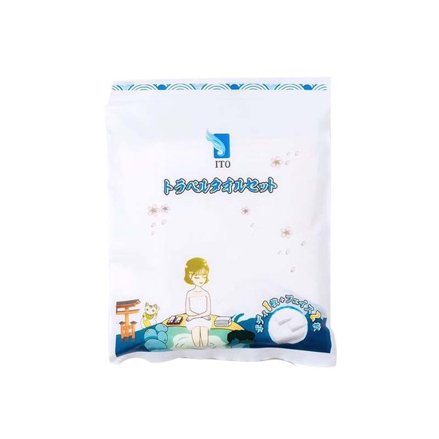 Product Detail - ITO Travel Towel Set (1 Body + 2 Faces)  3pcs - image 0