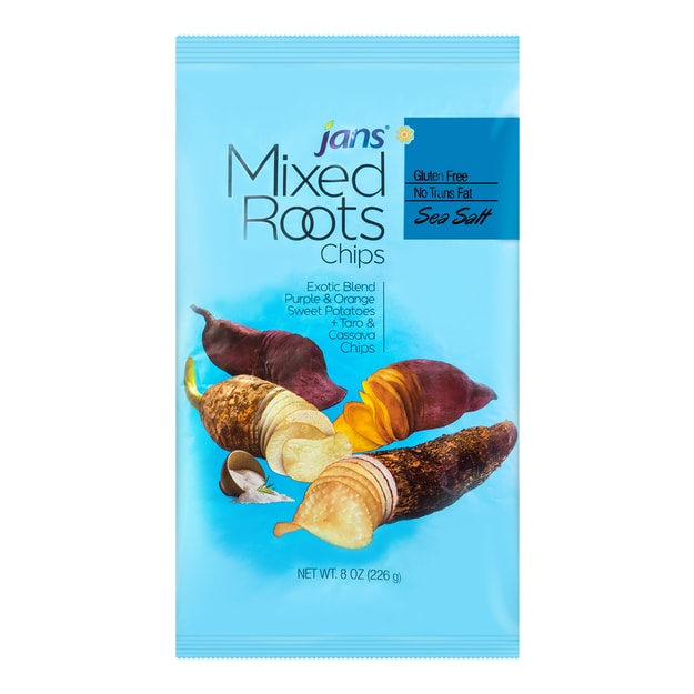 Product Detail - JANS MAXI-Mixed Roots-Sea Salt Chips 226g - image 0