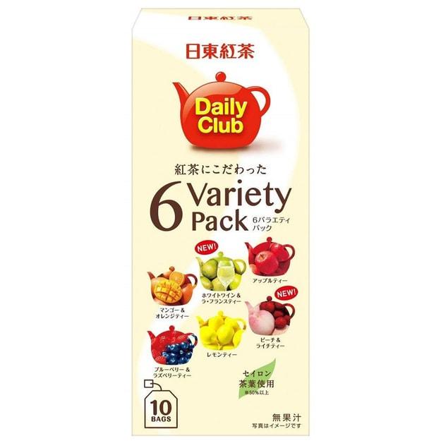 商品详情 - DHL直发【日本直邮】日东红茶 综合6种水果香味红茶茶包 10包装 - image  0