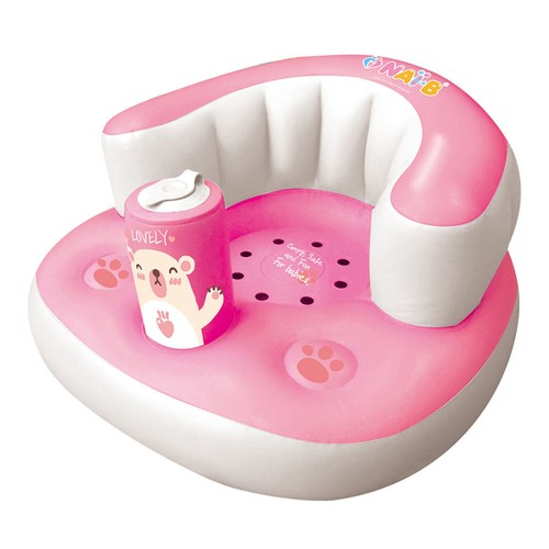 NAI-B Hamster Inflatable Baby Seat- Pink (7-24M)