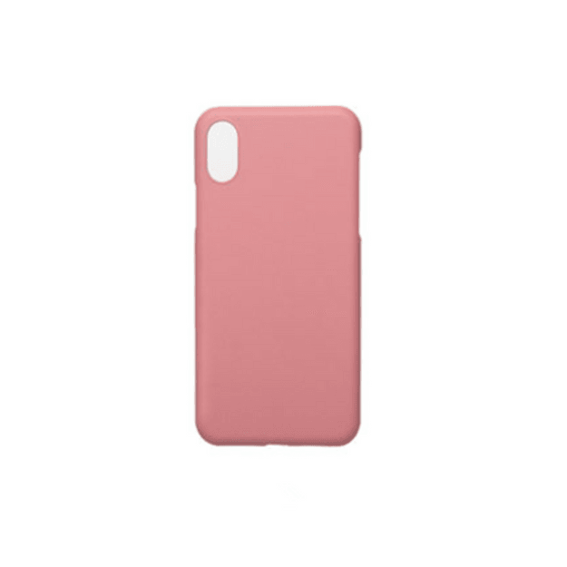 Product Detail - MAOXIN Pure Color Silicone Apple Cell Phone Case For iPhoneX  Pink 1PC - image 0