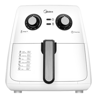Midea Multi Function Electric Hot Air Fryer 3.5L White MFTN3501-W