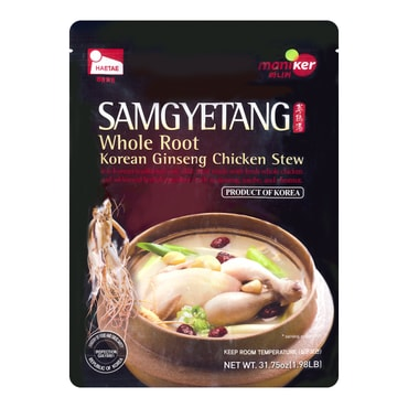 MANIKER Korean Traditional Whole Ginseng Chicken Stew Samgyetang 900g