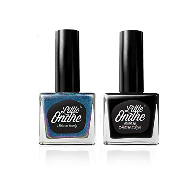 Product Detail - Little Ondine Natural Quick Dry Non-toxic Fingernail Lacquer Peel off Nail Polish Set 2 Bottles in 1 Box - image 0